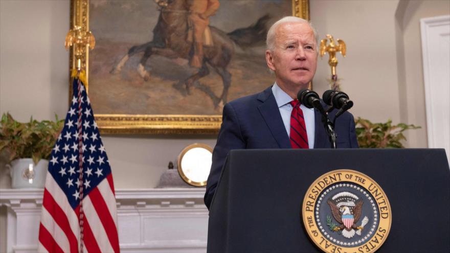 El presidente de Estados Unidos, Joe Biden, en la Sala Roosevelt de la Casa Blanca en Washington, DC, el 27 de febrero de 2021.